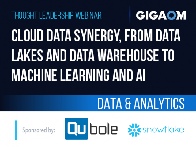 Cloud Data Synergy, from Data Lakes and Data Warehouse to Machine Learning & AI
