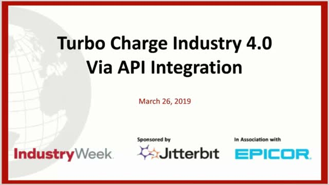On-Demand Webinar: Turbo Charge Industry 4.0 Via API Integration