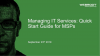 Managing IT Services: Quick Start Guide for MSPs