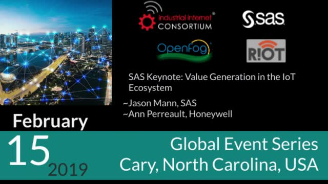 SAS Keynote: Value Generation in the IoT Ecosystem