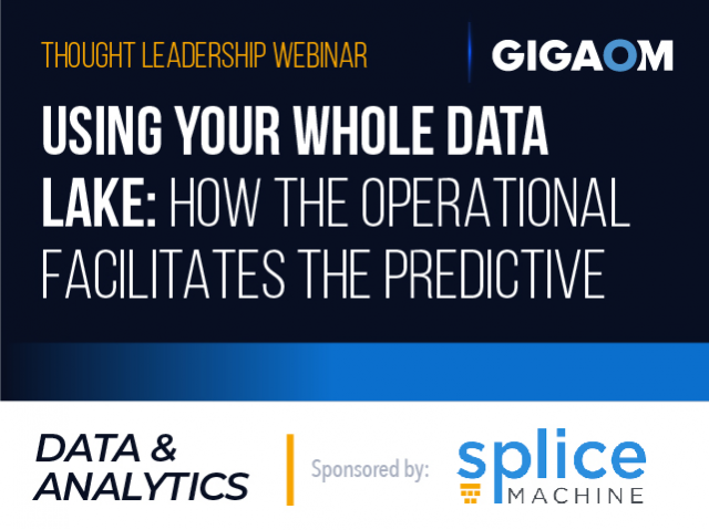 Using Your Whole Data Lake: How the Operational Facilitates the Predictive