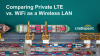 Comparing Private LTE vs. WiFi as a Wireless LAN