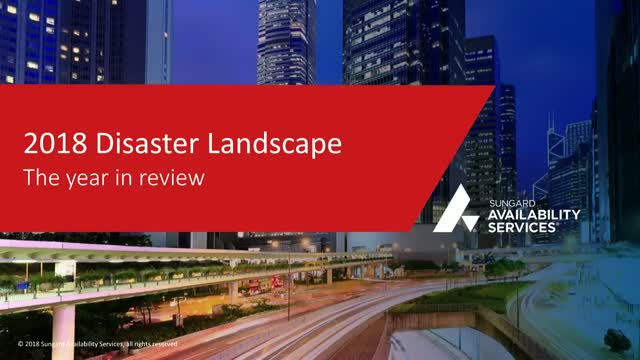 A Year In Review - 2018 Disaster Landscape
