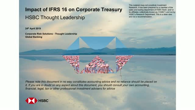 IFRS 16 – Impact on Corporate Treasury