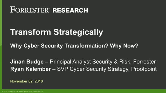 Strategic Cybersecurity Transformation: Why Now, Why People-Centric