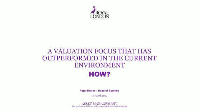 A valuation focus that has outperformed in the current environment… how?