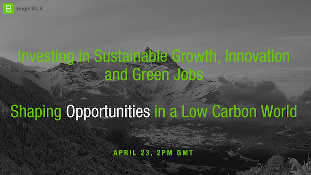 Investing in Sustainable Growth, Innovation and Green Jobs