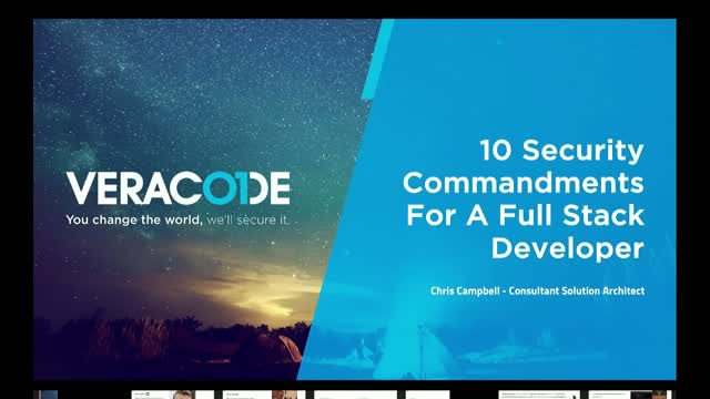 10 Full Stack Developer Commandments - Software Engineering Done Securely