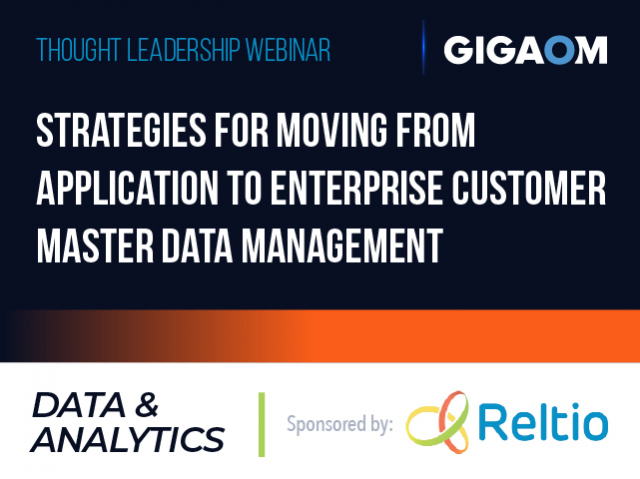 Strategies for Moving from Application to Enterprise Customer Master Data  Manage