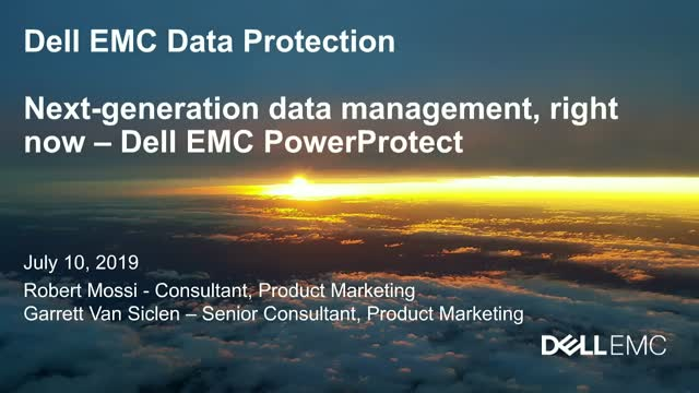 Next Generation in Dell EMC Data Protection
