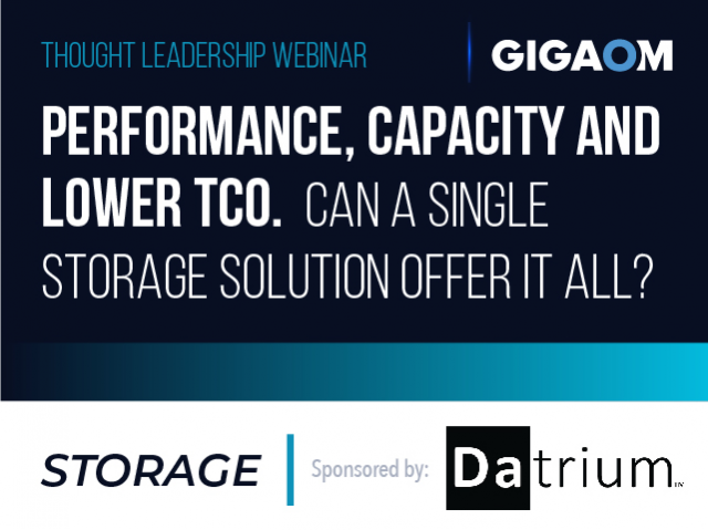 Performance, Capacity and Lower TCO. Can a single storage solution offer it all?