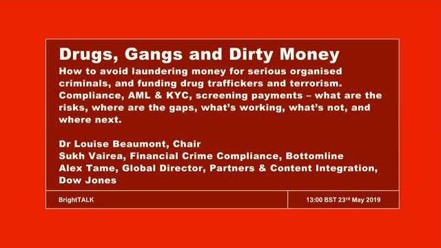 Drugs, Gangs & Dirty Money: How to avoid laundering money for criminals