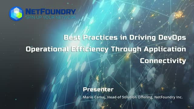 Best Practices in Driving DevOps Operational Efficiency Through App Connectivity