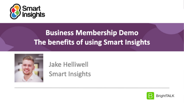 Business Strategy and Growth - Business Membership Demo - Smart Insights