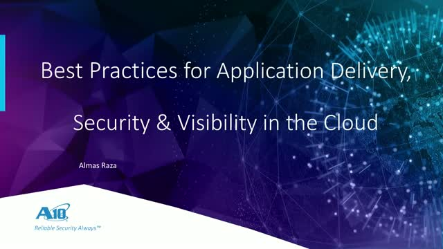 Best Practices for Application Delivery, Security, & Visibility in the Cloud