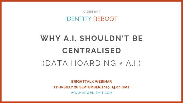 Why A.I. Shouldn't Be Centralised (Data Hoarding ≠ A.I.)