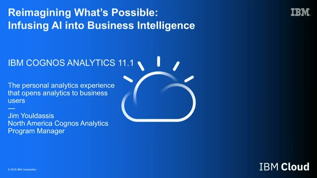 Reimagining What's Possible: Infusing AI into Business Intelligence