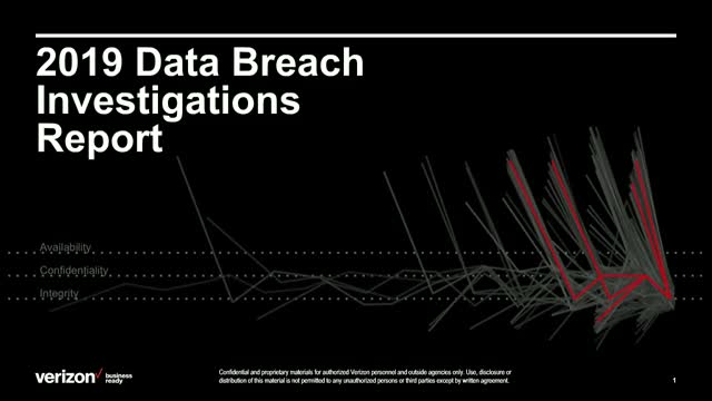 2019 Verizon Data Breach Investigations Report