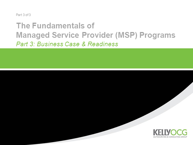 MSP Program Essentials for Europe, Part 3: Business Case and Readiness