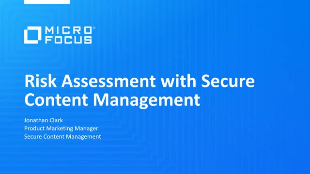 Risk Assessment with Secure Content Management