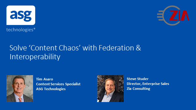 Solve 'Content Chaos' with Federation & Interoperability