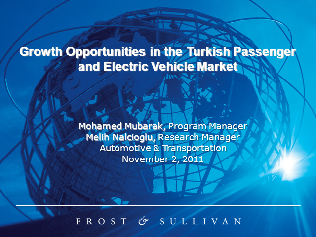Growth Opportunities in Turkish Passenger and Electric Vehicle Market