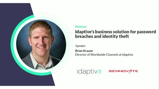 Idaptive's business solution for password breaches and identity theft