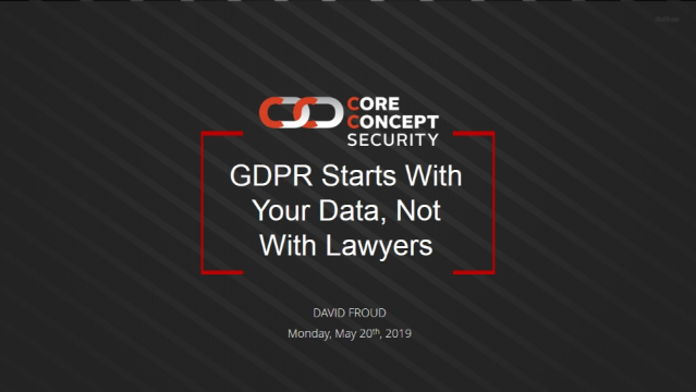 GDPR Starts With Your Data, Not With Lawyers