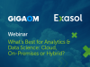 What's best for Analytics and Data Science : Cloud, On-Premises or Hybrid?