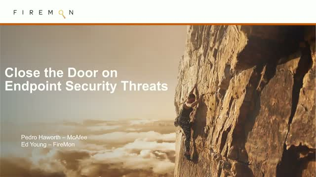 Close the Door on Endpoint Security Threats with Detection & Response