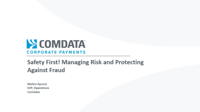 Safety First! Managing Risk and Protecting Against Fraud