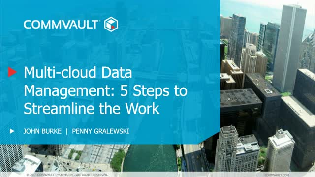 Multi-cloud data management: 5 steps to streamline the work.