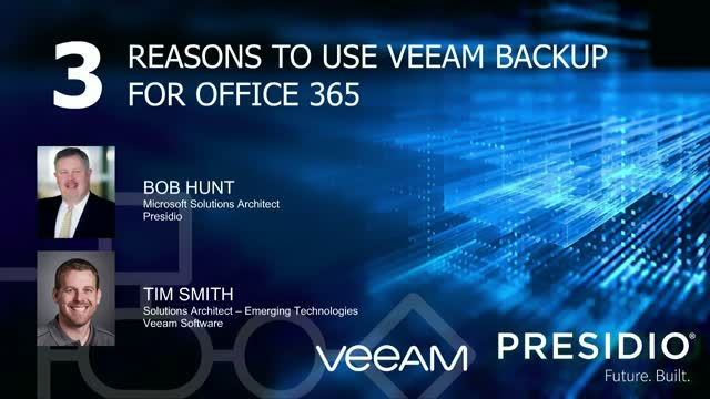 3 Reasons to Use Veeam Backup for Office 365