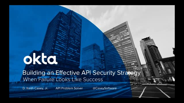 Build an Effective API Security Strategy