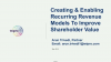 Creating & Enabling Recurring Revenue Models To Improve Shareholder Value