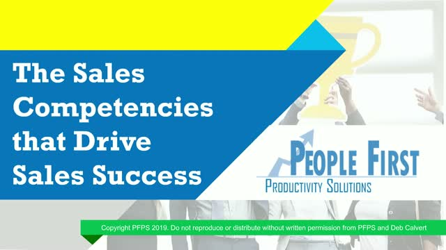 The Sales Competencies that Drive Sales Success