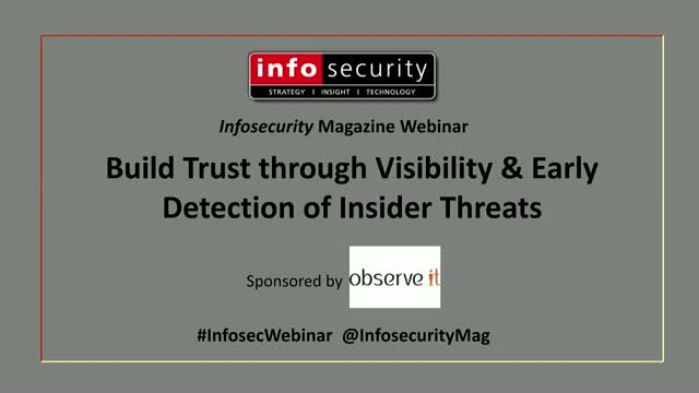 Build Trust through Visibility & Early Detection of Insider Threats