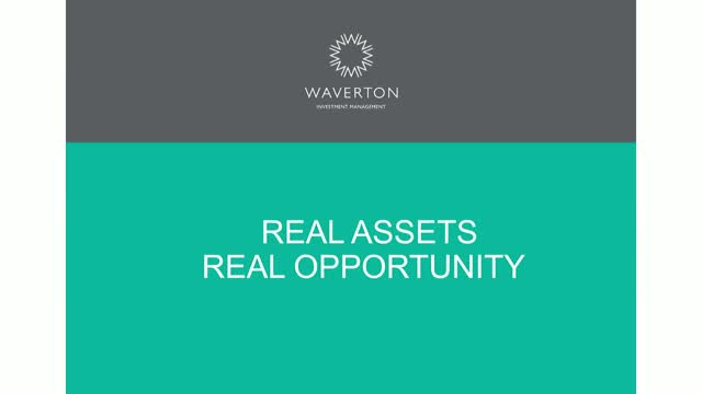 Real Assets - Real Opportunity