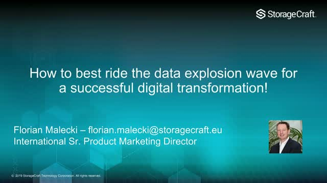 How to best ride the data explosion wave for a successful digital transformation