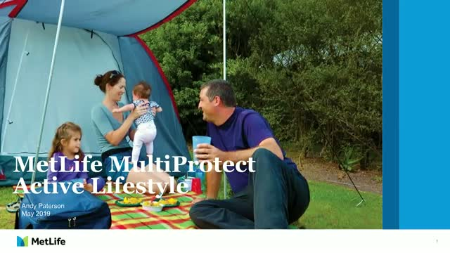MetLife MultiProtect - Active Lifestyle webinar