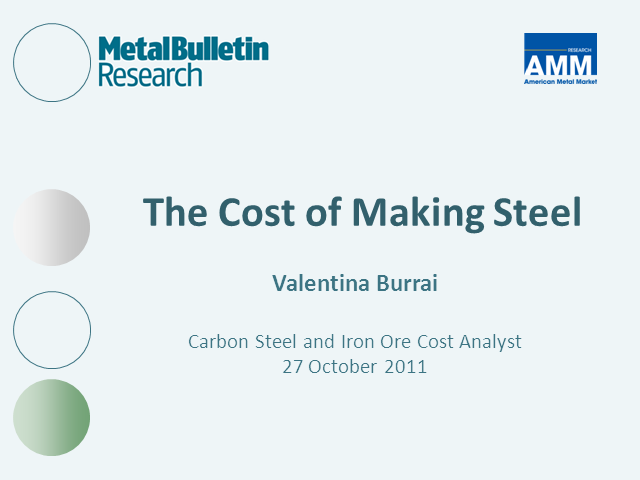 Steel Costs in 2011 Q3