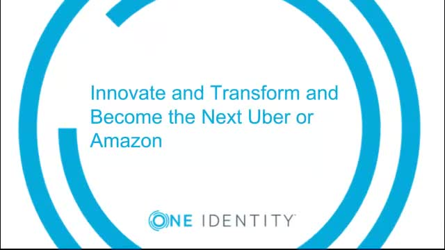 Innovate and Transform and Become the Next Uber or Amazon
