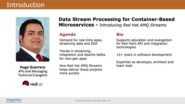 Data Stream Processing for Container-Based Microservices - Red Hat AMQ Streams