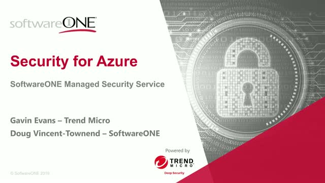 Security for Azure with Trend Micro and SoftwareONE