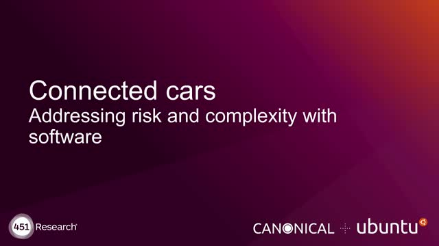 Connected cars: addressing risk and complexity with software