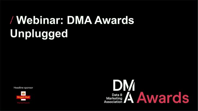 Webinar: DMA Awards Unplugged