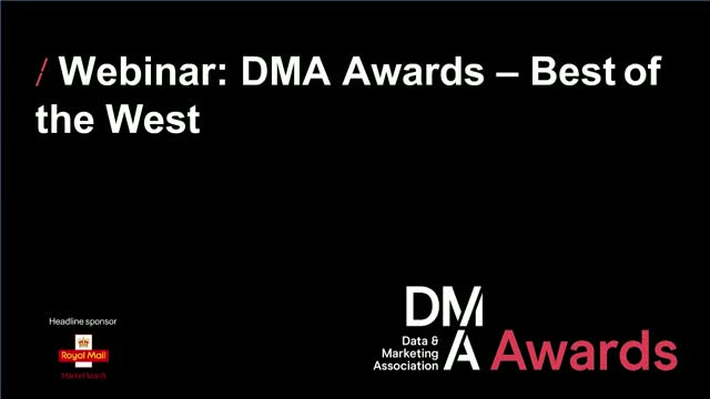 Webinar: DMA Awards - Best of the West