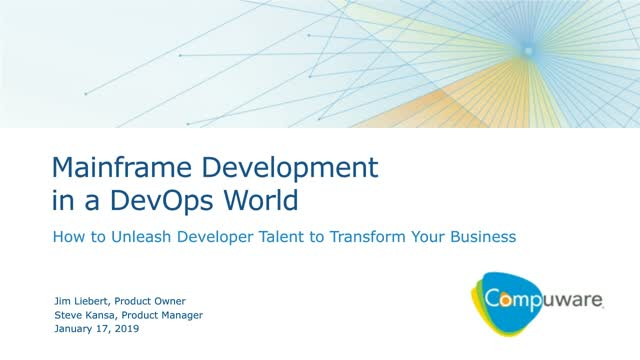 Mainframe Development in a DevOps World: Transform Your Business