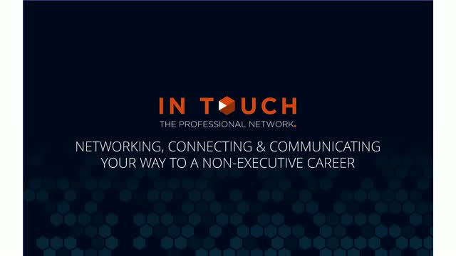 Networking, Connecting and Communicating your way to a NED Career