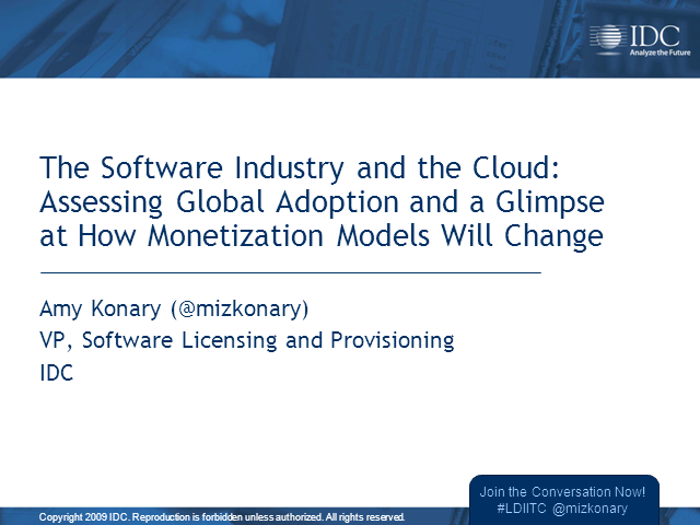 The Software Industry and the Cloud: Assessing Global Adoption and a Glimpse at